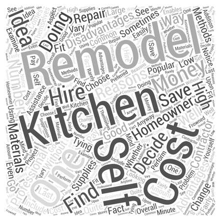 Should You Do Your Own Kitchen Remodeling Word Cloud Concept Illustration