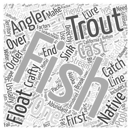 SF マス釣りのヒント単語雲の概念