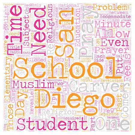 Should San Diego Schools Students Pray text background wordcloud concept Illustration
