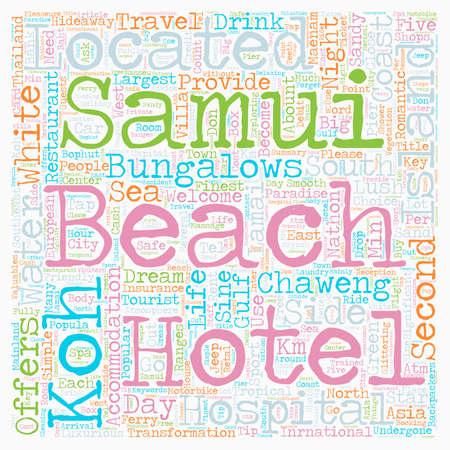 SAMUI ISLAND text background wordcloud concept Illustration