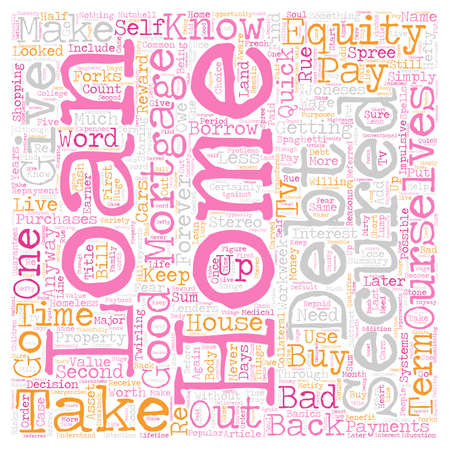 Secured Home Equity Loan Gives Debt A Good Name text background wordcloud concept