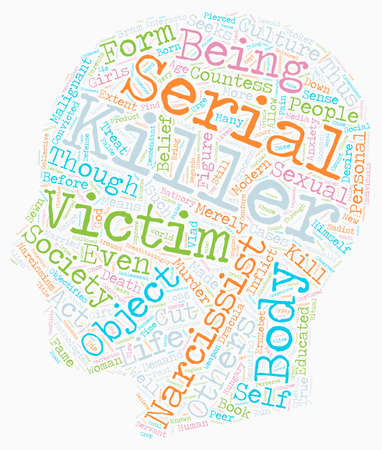 Serial Killers text background wordcloud concept Illustration