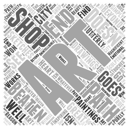 Shop for Art off the Beaten Path Word Cloud Concept