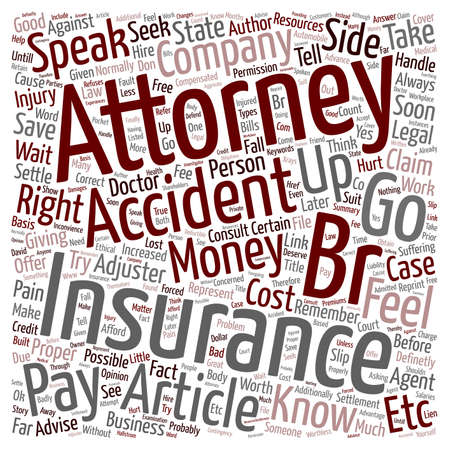 Should you hire an accident attorney text background wordcloud concept