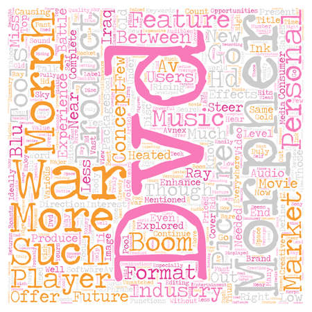 Same old and brand new DVD talk text background wordcloud concept