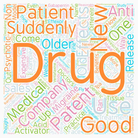 Seven Toxic Effects of Drug Companies text background wordcloud concept