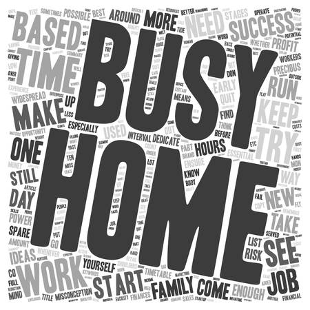 misconception: Successful Home Based Business text background wordcloud concept