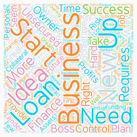Take Control Of Your Future And Start Your Own Business text background wordcloud concept