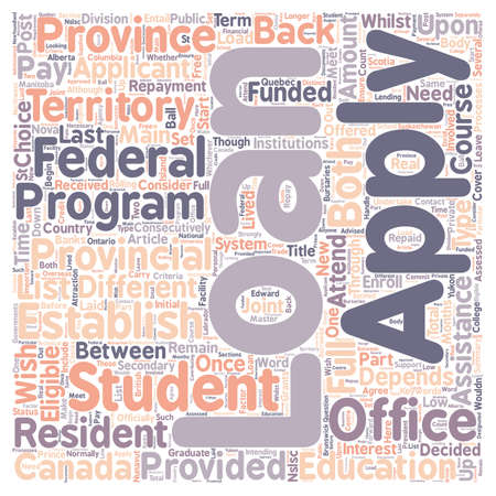 Student Loans text background wordcloud concept