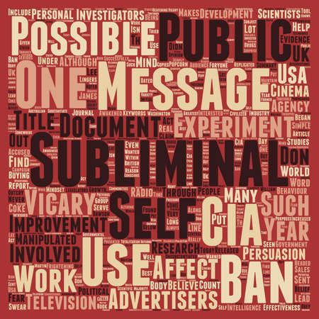 Subliminal Messages The CIA text background wordcloud concept
