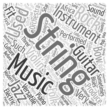 forerunner: string musical instrument Word Cloud Concept