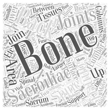 Sacroiliac Bones and Back Pain Word Cloud Concept