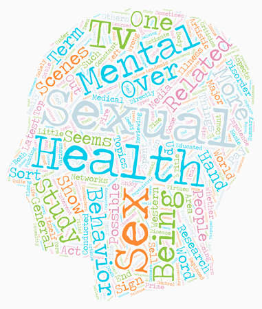 Sexual Health and Society text background wordcloud concept