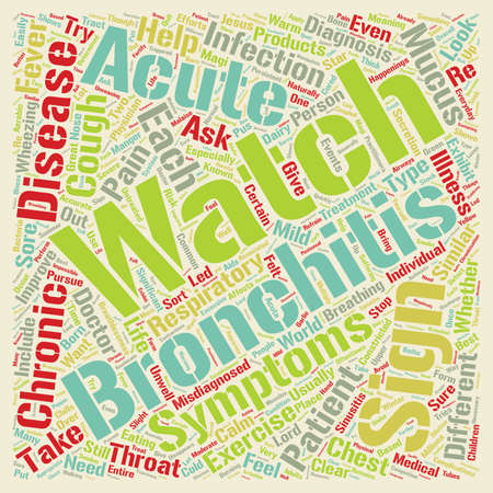 sign of bronchitis text background wordcloud concept