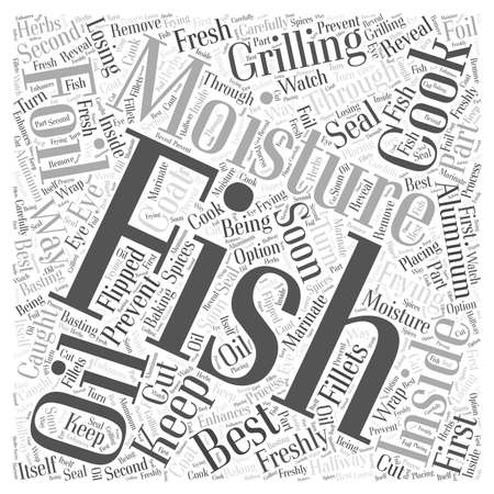 SF cooking your caught fish to perfection Word Cloud Concept