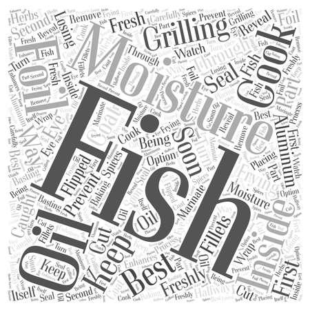 SF gotowanie złowionych ryb do perfekcji Koncepcja chmury słów