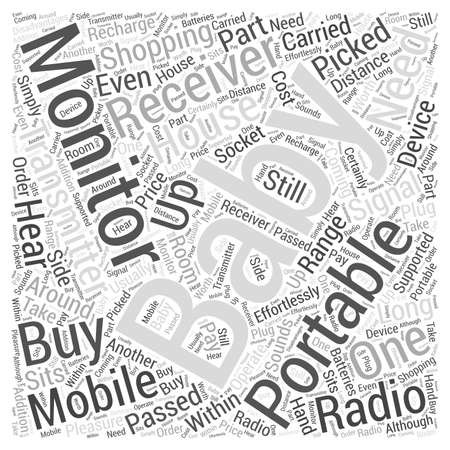 Shopping For Mobile Baby Monitors Word Cloud Concept