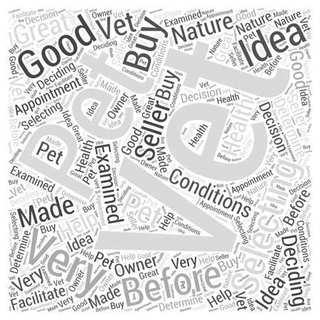 Het selecteren van een dierenarts voor het huisdier Word Cloud Concept