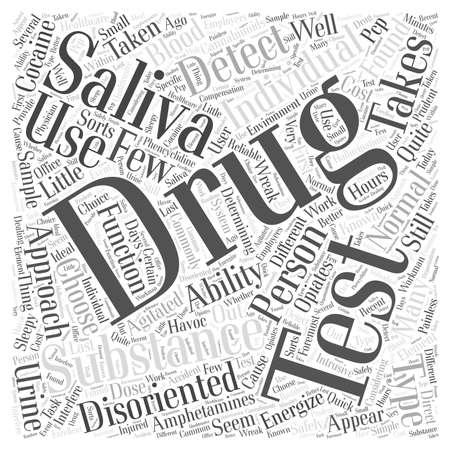 saliva drug test Word Cloud Concept