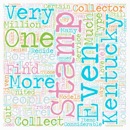 stamp collectors in louisville kentucky text background wordcloud concept