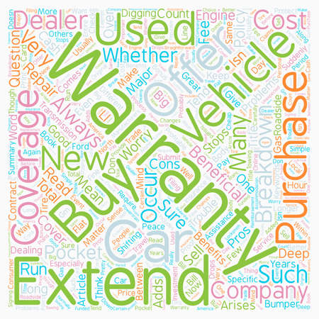 Should I Buy An Extended Vehicle Warranty text background wordcloud concept