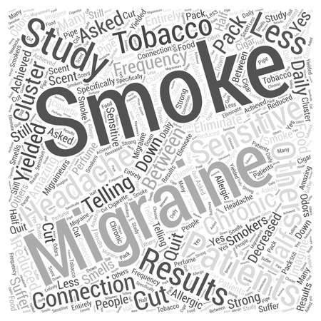 yielded: Smoking and Migraines Word Cloud Concept