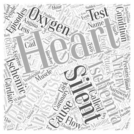 silent: Silent Ischemia and Ischemic Heart Disease Word Cloud Concept Illustration