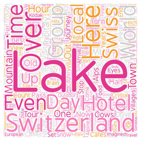 Scenic Wonders Swiss Alps Italian Lakes text background wordcloud concept