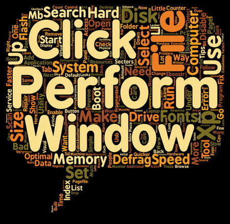 Simple Ways To Speed Up Your Windows XP text background wordcloud concept Illustration