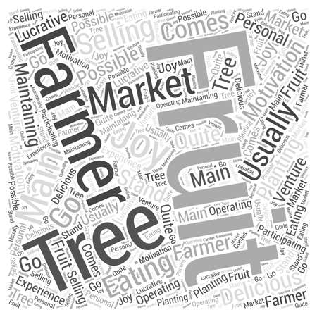 Selling at Farmers Markets Word Cloud Concept