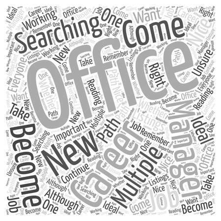 listings: Should You Become an Office Manager Word Cloud Concept