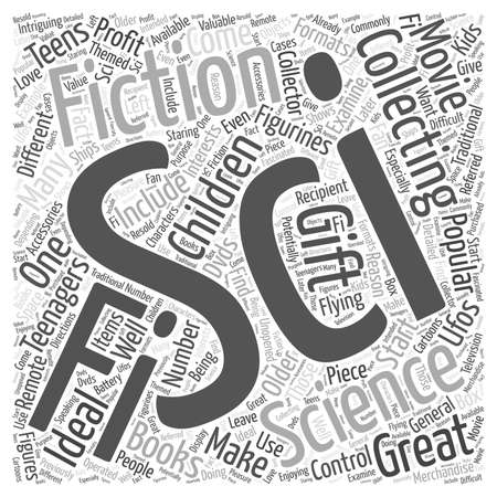 Sci Fi Collectibles That Make Great Gifts for Kids Word Cloud Concept