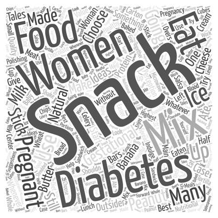 gestational: Snack Ideas for Women with Gestational Diabetes Word Cloud Concept