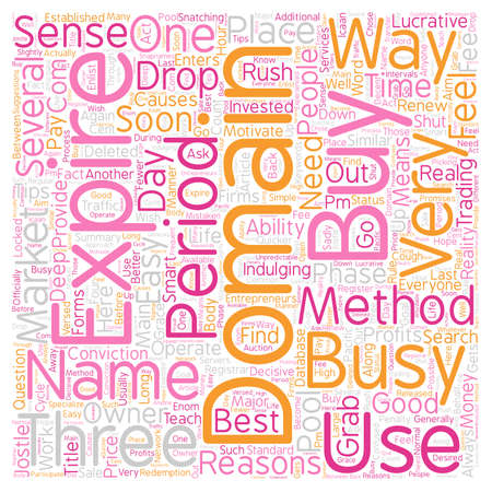 Several Ways And Means To Buy Expired Domain text background wordcloud concept Illustration