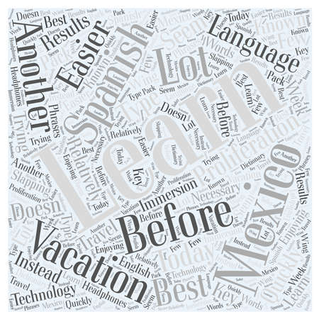 Should You Learn Spanish Before Vacationing In Mexico Word Cloud Concept Illustration