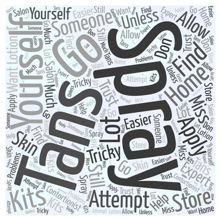 tans: spray on tans Word Cloud Concept