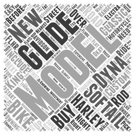 Should You Buy A New Harley Davidson Word Cloud Concept Illustration