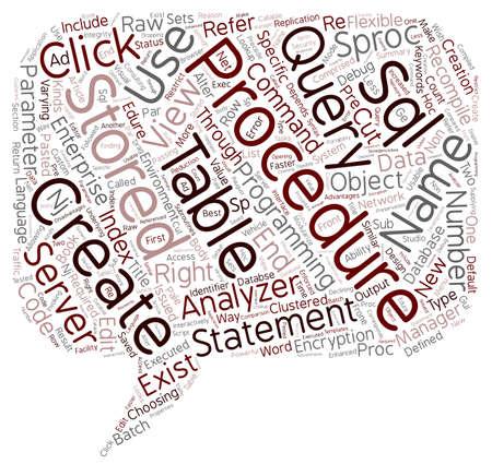 テキストの背景の wordcloud 概念は SQL サーバーのストアド プロシージャ