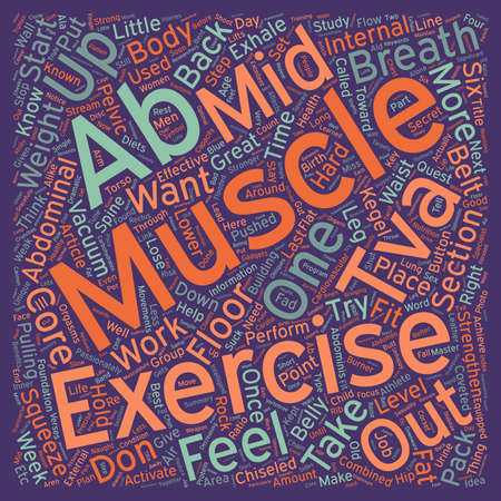 midsection: Steps To Six Pack Abs text background wordcloud concept