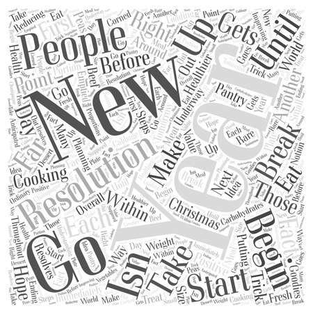 Start the New Year Word Cloud Concept