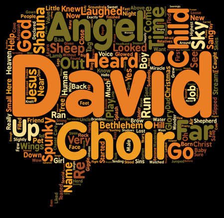 looked: The Angel Child text background wordcloud concept Illustration