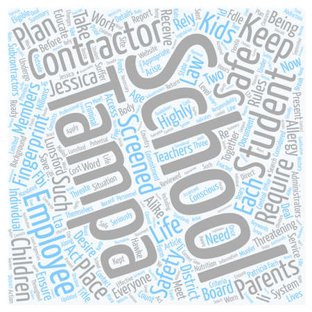 Tampa Schools Take Safety Seriously text background wordcloud concept
