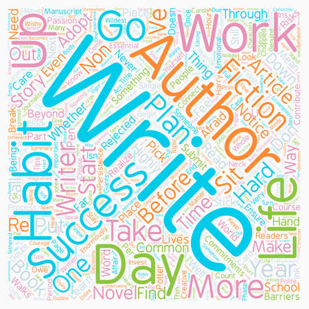 The 7 Habits Of Highly Successful Authors text background wordcloud concept