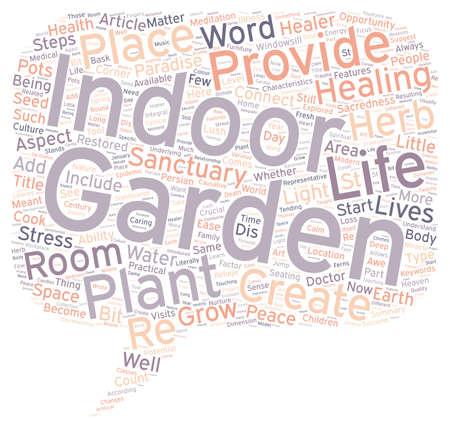The Garden As Healer text background wordcloud concept