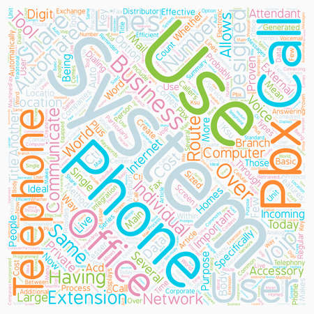 Telephone Systems In The Office text background wordcloud concept Illustration