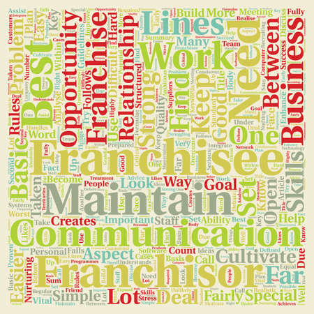 The Best Franchisees Will Enhance Your Business Opportunity text background wordcloud concept