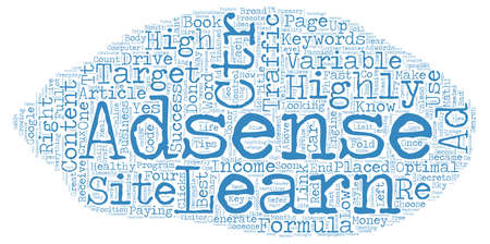 The Full Adsense Formula text background wordcloud concept