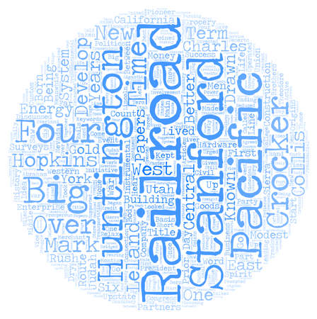The Big Four text background wordcloud concept Illustration
