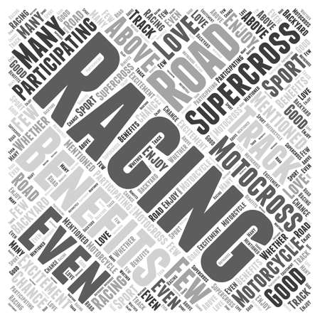supercross: The Benefits of Participating In Supercross Motorcycle Racing Word Cloud Concept
