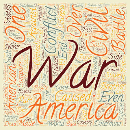 devastating: The Civil War 1 text background wordcloud concept